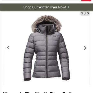 North Face Green hooded Contoured  Down Jacket